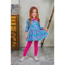Комплект  трикотажный для девочек: платье, брюки (лосины) 205209