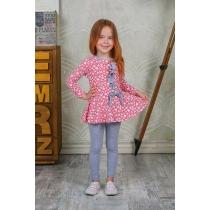 Комплект трикотажный для девочек: платье, брюки (лосины) 205231
