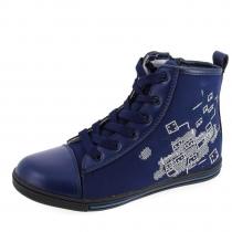 Кеды для девочки, темно-синие A-B63-37-E