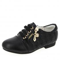 Ботинки для девочки, черные A-B63-88-H