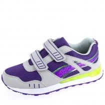 Кроссовки для девочки, серо-фиолетовые A-B66-02-D