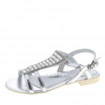 Босоножки для девочки, серебряные A-B66-72-C