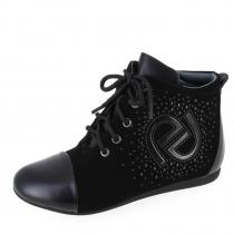 Ботинки для девочки, черные A-B67-34-D