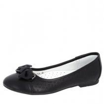 Балетки для девочки, черные A-B68-73-A