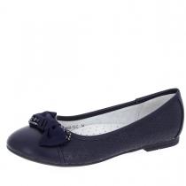Балетки для девочки, темно-синие A-B68-73-C