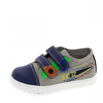 Ботинки для мальчика, серый/синий A-B61-58-A