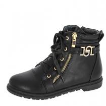 Ботинки для девочки, черные A-B67-31-B