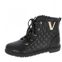Ботинки для девочки, черные A-B67-32-B