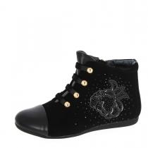 Ботинки для девочки, черные A-B67-35-D