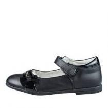 Туфли для девочки, черные A-B68-17-B