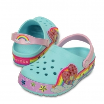Шлепанцы (САБО) CrocsLights Rainbow Heart Clog 202662-4O9