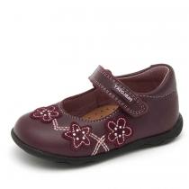 Туфли для девочки, бордовые 019885