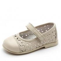 Туфли для девочки, бежевые 063633