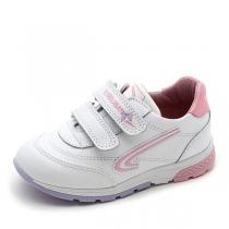 Кроссовки для девочки, белый/розовый 255507