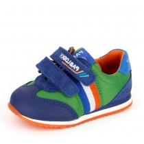 Кроссовки для мальчика, синий/зеленый 256618