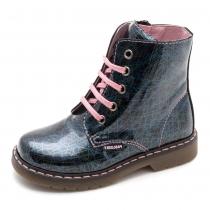 Ботинки для девочки, синий лак 423914