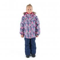 Зимний комплект для девочек: куртка и полукомбинезон / брюки Виражи Wonderland W16103_PURPLE
