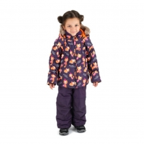 Зимний комплект для девочек: куртка и полукомбинезон / брюки  Лисичка у озера W16104_ORANGE