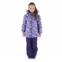 Зимний комплект для девочек: куртка и полукомбинезон / брюки Загадка Ниагары W16105_PURPLE