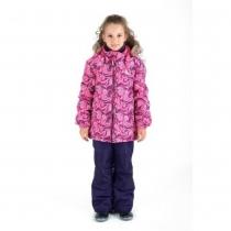 Зимний комплект для девочек: куртка и полукомбинезон / брюки Загадка Ниагары W16105_PINK