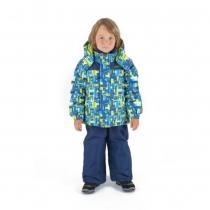 Зимний комплект: куртка и полукомбинезон / брюки Лабиринты Лонглит W16205_BLUE