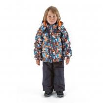 Зимний комплект для мальчиков: куртка и полукомбинезон / брюки Лабиринты Лонглит W16205_GREY