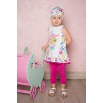 Комплект трикотажный для девочек: платье, лосины 712015