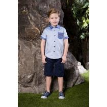Рубашка текстильная для мальчиков 713020