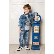 Брюки джинсовые для мальчиков 713106