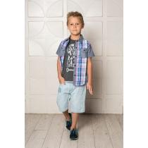 Рубашка текстильная для мальчиков 713122
