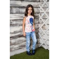Брюки джинсовые для девочек 714004