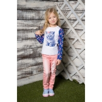 Брюки текстильные для девочек 714005
