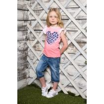 Бриджи джинсовые для девочек 714006