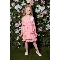 Платье текстильное для девочек 714023