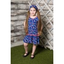 Платье трикотажное для девочек 714025