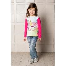 Брюки джинсовые для девочек 714038