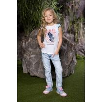 Брюки джинсовые для девочек 714071