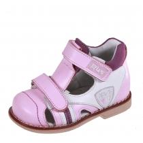 Профилактические дошкольные сандалии, розовый/белый 22P 0505/05