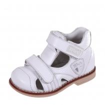 Профилактические дошкольные сандалии, белые 22P 0505/07