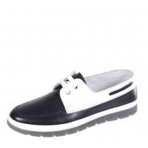 Ботинки школьные для мальчика, черный/белый 36F 3354/105-100