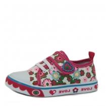 Кеды для девочки, цветочный принт DU-2962