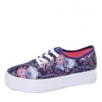 Кеды для девочки, фиолетовые H-807-1 purple flower