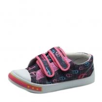 Кеды для девочки, розовый/джинс WB-3031-L1006-1