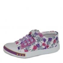 Кеды для девочки, сиреневый принт WB-3031-L2004-Purple