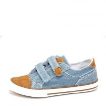 Кеды унисекс, джинс YB-883 light blue jeans