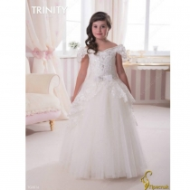 Детское платье для девочки TRINITY bride  RP TG0016 TR03016_white