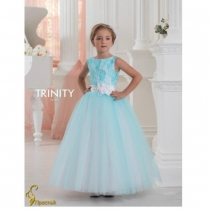 Детское платье для девочки TRINITY bride  RP TG0097 TR03097_white-turquoise