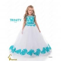 Детское платье для девочки TRINITY bride  RP TG0225 TR0302D_white-turquoise