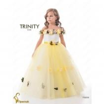Детское платье для девочки TRINITY bride  RP TG0235 TR0302J_yellow_milk