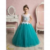 Платье детское Veronicaiko VG0022 (FG0494) NM0300O_white-turquoise